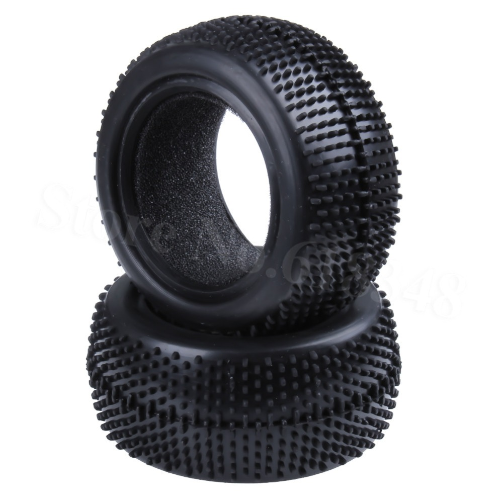 2Pcs Front & Rear Rubber Tires With Foam Inserted Width:34mm & 42mm OD:85mm ID:60mm For  RC Car 1/10 Off Road Buggy Model Parts