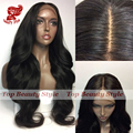 High Quality Natural Hairline Synthetic Lace Front Wig Black Wigs with Baby Hair Heat Resistant Body Wave Wigs For Black Women