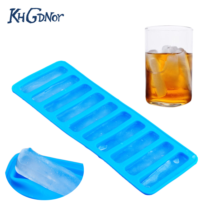 DIY Ice Cube Tray Silicone Ice Mould Water Stick Bottle Ice Cream Maker Tool UK