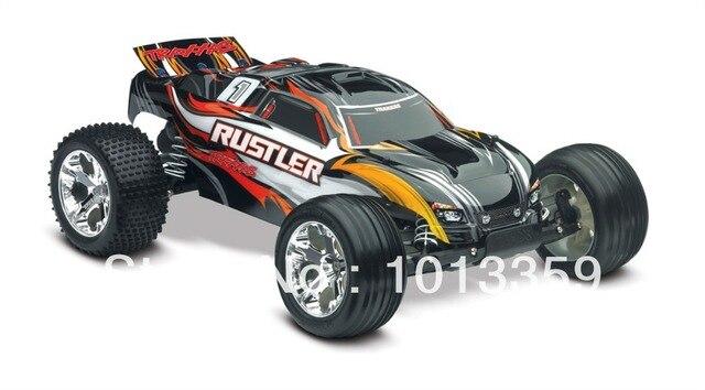 Traas Rustler Xl 5 1 10 Electric Stadium Truck Waterproof Rtr Tra37054