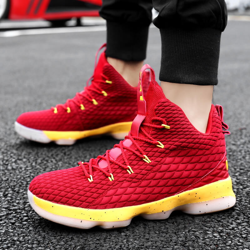 promo code f3fbc ab264 US $28.0 44% OFF|2018 Professional Basketball Shoes for Men Comfortable  Cushioning Athletic Women Outdoor Sport Shoes Lebron James 13 Sneakers-in  ...