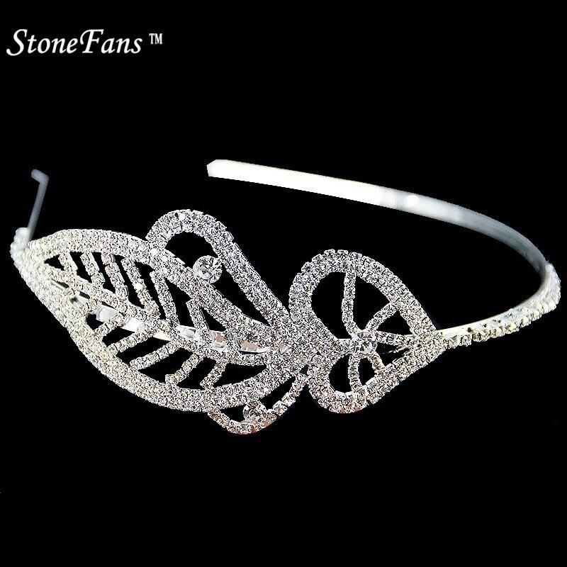 StoneFans Crystal Rhinestone Headband For Girls Bridal Metal Leaves ... 10bbdf13dd60