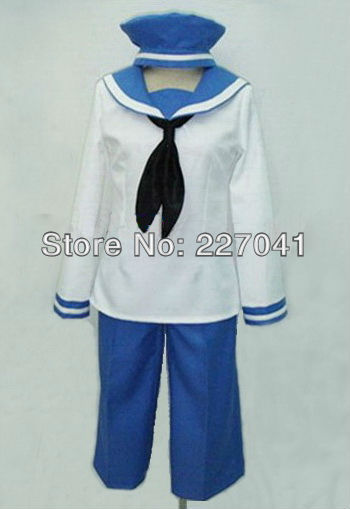 Axis Powers Hetalia Sealand Anime Cosplay Costume