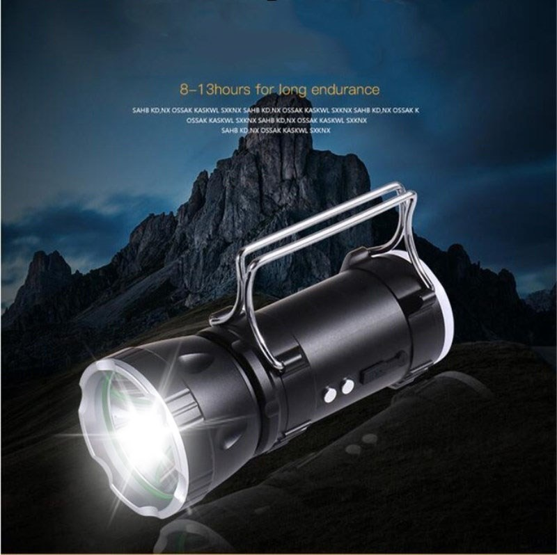 Built in 6000mah Outdoor Portable Explosion Proof Searchlight Glare Long Range Multi Function LED Flashlight for