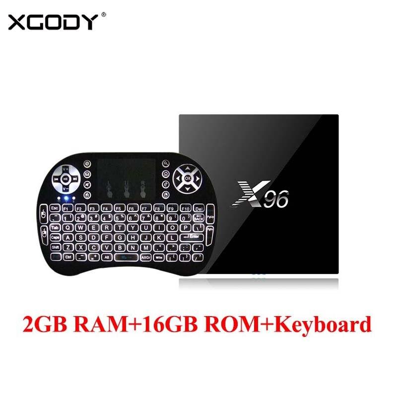 XGODY X96 Android 6 0 font b TV b font BOX 2GB 16GB S905X Quad Core