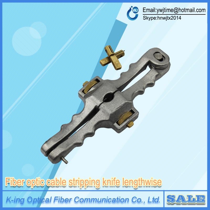 Free shipping Longitudinal Opening font b Knife b font Longitudinal Sheath Cable Slitter Fiber Optical Cable