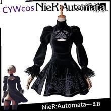Pasirinkta! NieR: Automatinė YoRHa A tipo Nr.2B Cosplay kostiumas 2B kostiumo moterų suknelė Helovinas šalis kostiumai kostiumai komplektai