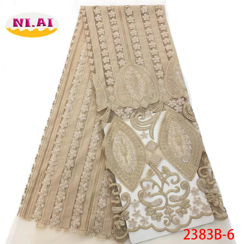 2018 Latest French Nigerian Lace Fabrics High Quality Tulle African Laces Fabric Wedding African French Tulle