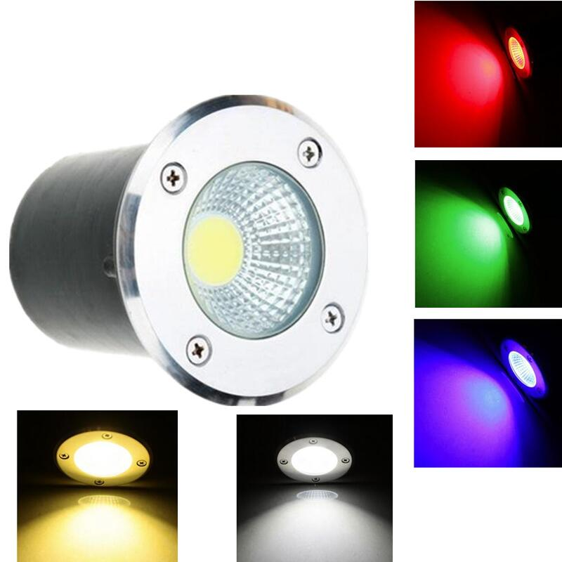 Frugal New Rgb Cob 7w 9w Waterproof Ip67 Led Underground Light Outdoor Ground Garden Path Floor Buried Yard Spot Landscape 85-265v/12v Making Things Convenient For The People Led Underground Lamps