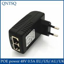 Видеонаблюдения Безопасности 48 В 0.5A 24 Вт POE Дюбеля POE Инжектор Адаптер Ethernet IP Камеры Телефона PoE Питания США ЕС Plug
