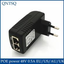 Surveillance CCTV Security 48V 0.5A 24W POE Wall Plug POE Injector Ethernet Adapter IP Camera Phone PoE Power Supply US EU Plug