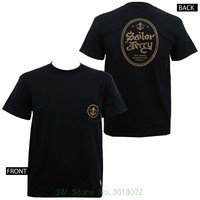 Good Quality Brand Cotton Shirt Summer Style Cool Shirts Sailor Jerry Tattoo Anchor Pocket Slim Fit