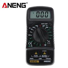 Professional Digital Multimeter AN8205C LCD Display Digital Multimeter AC/DC Thermometry Ammeter Voltmeter Ohm Meter Tester mastech ms2108 digital clamp meter true rms lcd multimeter ac dc voltmeter ammeter ohm herz duty cycle multi tester