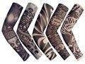 FreeShipping 5 PCS New Mista 92% Nylon Elástico Manga Tatuagem Temporária Falso Projetos Corpo Meias Tatuagem Do Braço Para Cool Men mulheres