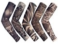 FreeShipping 5 PCS New Mixed 92%Nylon Elastic Fake Temporary Tattoo Sleeve Designs Body Arm Stockings Tattoo For Cool Men Women