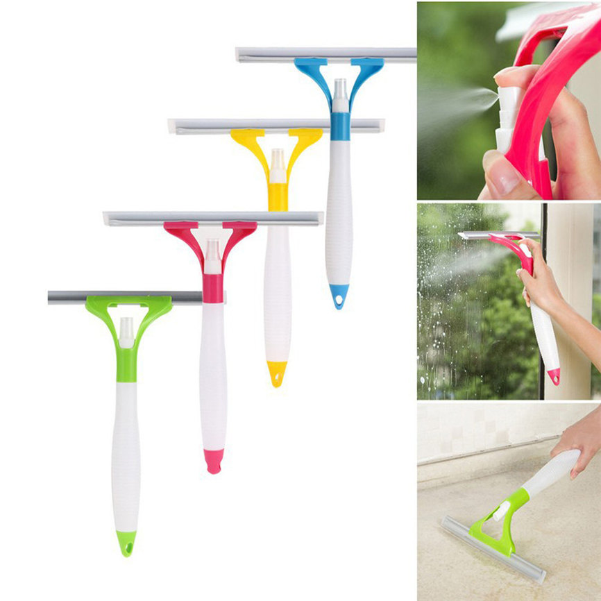 Cleaning Brush 2018 Multifunctional Spray Water Glass Scratch Car Glazing Door Floor Wash Cleaner 26*30cm Dropshipping 0131