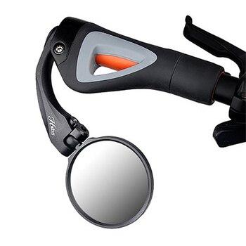 מראה אחורית אופניים 180-תואר Rotatable מתכוונן אופניים כידון אחיזה אחורית זכוכית