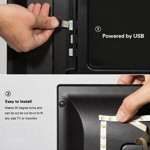 Image 5 - 1m 3m 5m IP20 3528 SMD DC 5V USB ładowarka zasilacz taśmy LED RGB pilot USB adapter do kabla lampa LED lampa ozdobna
