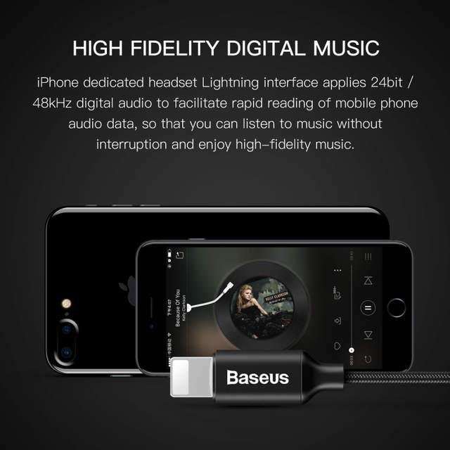 placeholder Baseus Earphone For Lightning in-ear Earphones for iPhone 7 8  6s 6plus 8pin Hifi 4c0704add0d4e