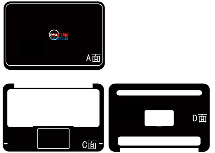 Special Laptop Carbon Fiber Vinyl Skin Stickers Cover For DELL XPS 12 XPSU12 12.5-inch Touchscreen 2012-2014 Release