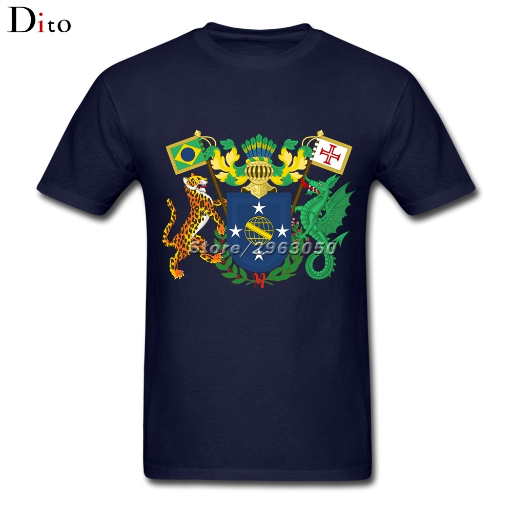 Brazil coat of arms T-shirt For Men Unique Short Sleeve Thanksgiving Day Custom 3XL Couple T Shirts