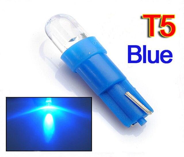 10 шт. высокое качество T5 74 w1.2w 1 светодиод авто Индикаторы приборной панели Подсветка приборной панели Световые индикаторы DC 12 В
