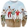 Women/men Fashion Bright 3D Sweatshirt English-Irish Pop Boy Band One Direction Crewneck Hoodies Pullovers Casual Outerwear