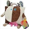 Мягкие одежды школы ребенок рюкзак Детские игрушки орангутанг лягушка корова сова мультфильм животных Младенческая малышей Малыш подарок чучела плюшевые куклы