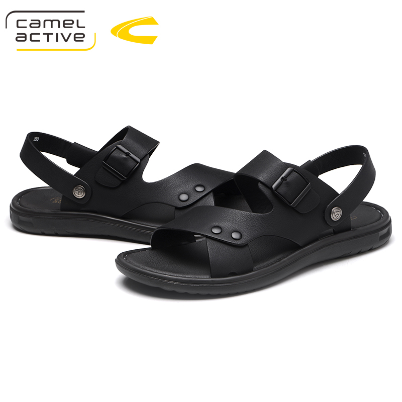 Camel Active Brand Summer Leather Sandals Men Casual Shoes sneakers Outdoor Beach Shoes Native Male Rubber Sole Sandals Sport
