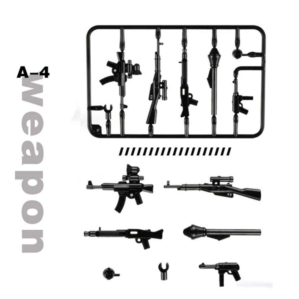 Wapens Pack Armen Gun Militaire Serie Politie Leger Soldaten Bouwstenen Compatibel Wapen Speelgoed Accessoires baksteen Speelgoed voor kinderen