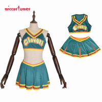 Clovers Green Cheerleader Cosplay Costume Women Halloween Outfit
