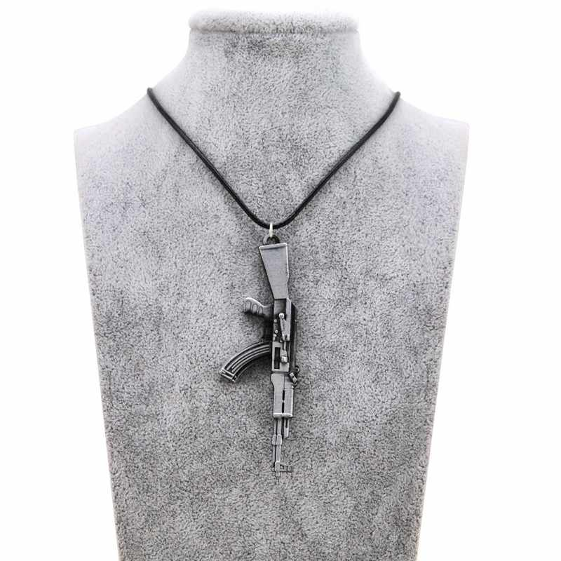 Original New Novelty Counter Strike AK47 Men's Gun Pendant Necklace Vintage Gold AK-47 Necklace Men Jewelry Collares Gift