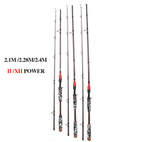 2.1m 2.28 2.4m casting Rods H XH Fishing rod Tackle/Gear Sea bass Rod Fishing Tackle Lure boat Rod 30kg 30g 300g lure