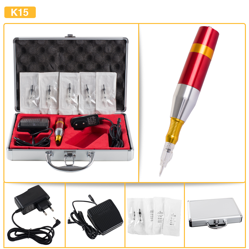 Classical Rotary Tattoo Kit Permanent Makeup Multifunctional Machine with Needles Power Supply Pedal High Quality wholesale high quality cheap tattoo machines with best rotary tattoo machines price for permanent makeup free shipping china