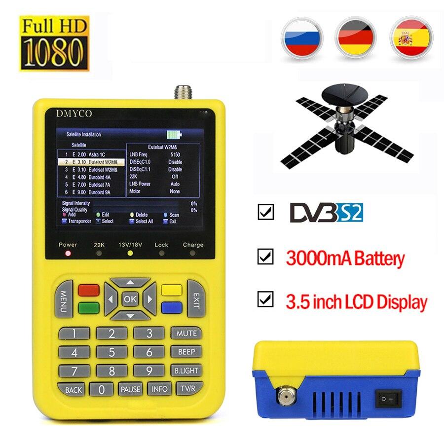 Détecteur de télévision HD satfinder DVB-S2 détecteur de Satellite haute définition MPEG-4 DVB S2 compteur Satellite 1080P détecteur HD détecteur de Satellite lnb