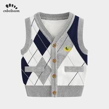 子供メンズウォームベスト綿男の子は 2020 春の新作冬ベスト肩ニットカーディガンベビーセーターベストファッション服
