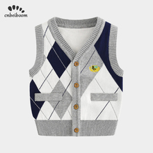 Childrens warm vest cotton boys vest 2020 new spring winter vest shoulder knit cardigan baby sweater Waistcoats fashion clothes
