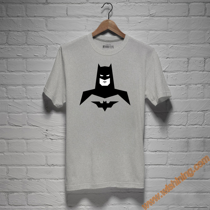Latest Batman Tee Shirt Gray Plus Size Unisex Superhero Bat Man T-shirts For Mens Womens