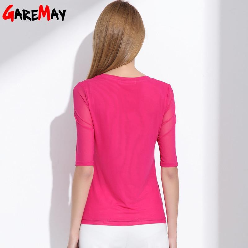 Kadın bluzlar 2020 yaz ipek şifon kadınlar için tops Zarif - Bayan Giyimi - Fotoğraf 3