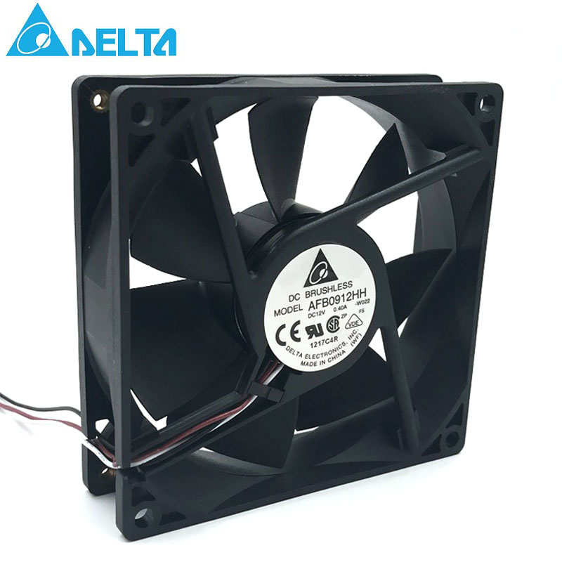 for delta AFB0912HH 92*92*25MM 90x90x25mm DC12V 0.40A case Cooling Fan 67.92CFM 4500RPM-in Fans & Cooling from Computer & Office