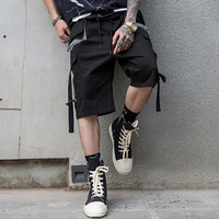 3M Reflective Stripe Buckle Straps Cargo Oversized Shorts Streetwear Hip Hop 2019 Men Casual Baggy Shorts Fashion Male