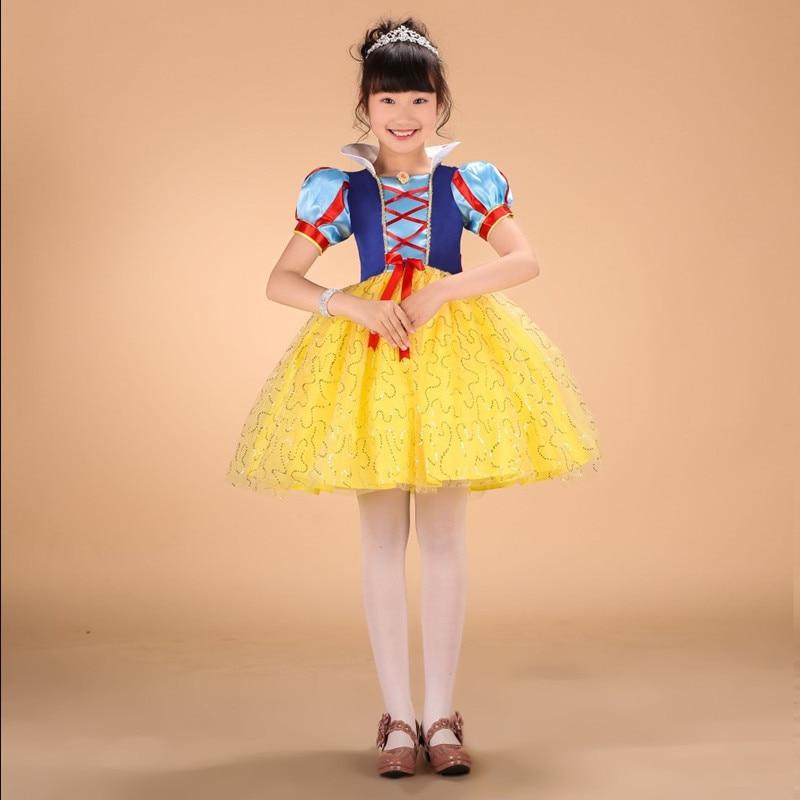 35209912d الكرتون الأميرة تأثيري ملابس الأطفال فساتين بنات طباعة اللباس لجميع  القديسين زي حزب فساتين vestidos دي menina