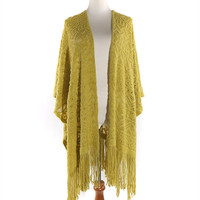 Hand Knitted Shawls For Women Tassel Poncho Ponchos And Capes Fall 2016 Infinity Blanket Scarf Scarves