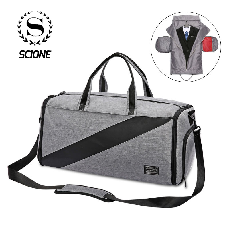 New Arrived Business Travel Bag For Men Women Unisex Luggage Duffle Bag Dry Wet Separation Independent Suit Space Handbag Gift