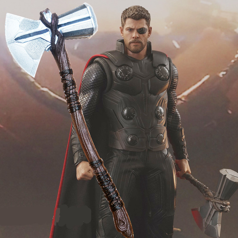 1:1  Thor Axe Hammer 73cm Cosplay Weapons Movie Role Playing Thor Thunder Hammer Axe Stormbreaker Figure Model PU Toy