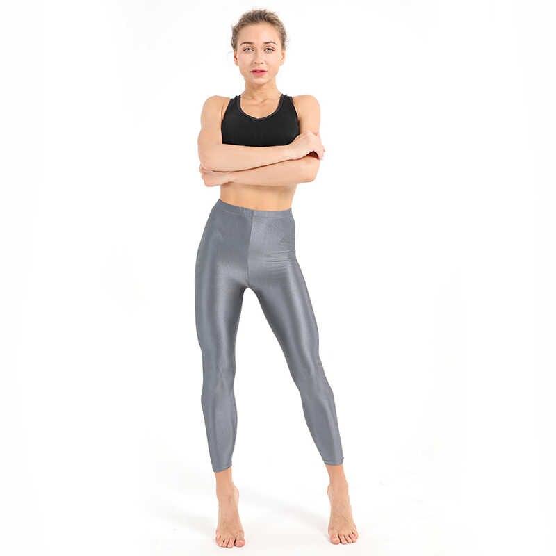 6058ce868d1 ... 21 Colors Women Fitness Push UP Leggings Plus Size Fluorescent Leggings  Ladies Shiny Leggins High Waist ...