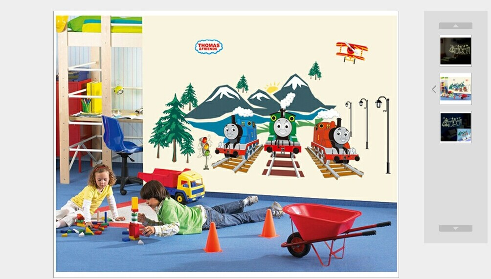 ... Serene 3d Thomas Friends Cartoon The Tank Engine Glow In Dark Wall  Stickers For Kids Bedroom ...