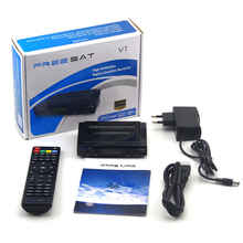 CCCAM Freesat V7 Spain portugal Satellite Receiver HD FTA TV Box DVB-S2 Support Powervu,Cccam, Youporn With USB Wifi Dongle