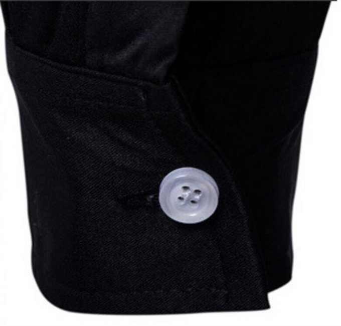 CH. KWOK Новое поступление мужская Повседневная рубашка приталенная черная рубашка с длинными рукавами Мужская модная рубашка с цветочным принтом Мужская Блузка Повседневная