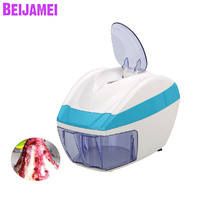 BEIJAMEI New Arrival small snow cone ice shaver electric ice shaving household ice cube crusher crushing